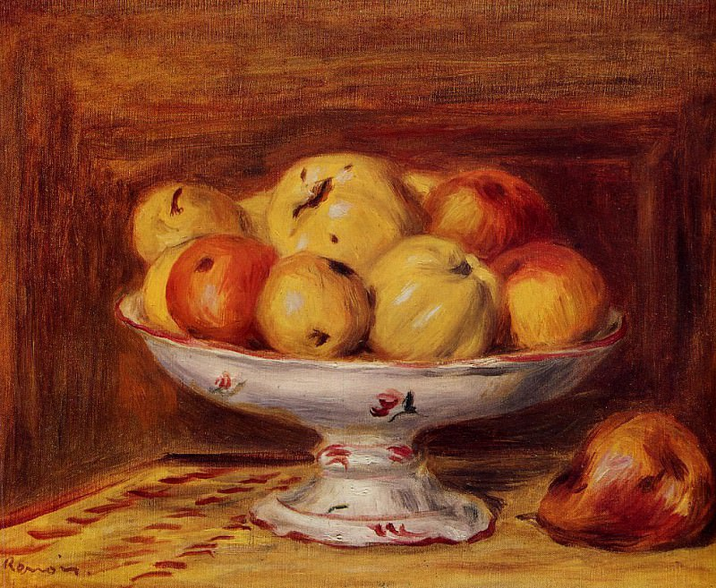 Still Life with Apples and Pears - 1903. Pierre-Auguste Renoir