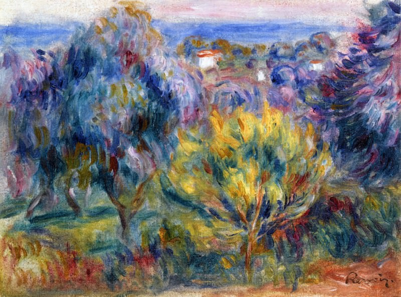 Landscape with a View of the Sea. Pierre-Auguste Renoir