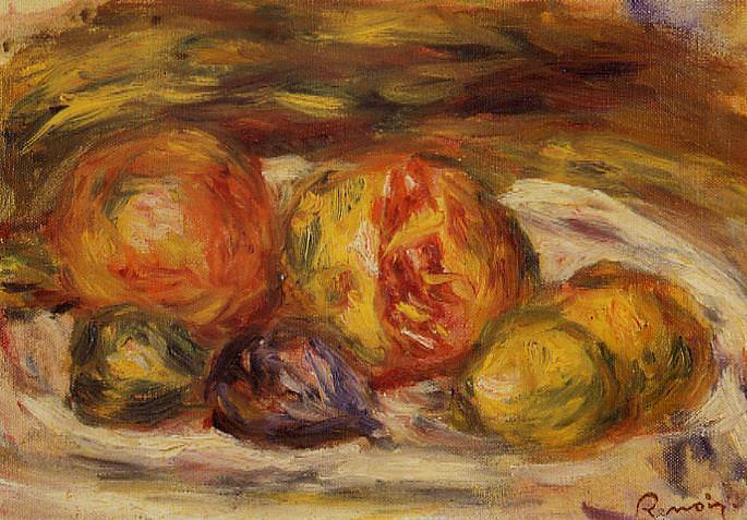 Still Life - Pomegranate, Figs and Apples - 1914 - 1915. Pierre-Auguste Renoir