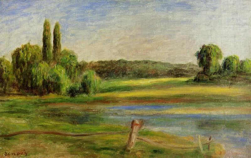 Landscape with Fence - 1910. Pierre-Auguste Renoir