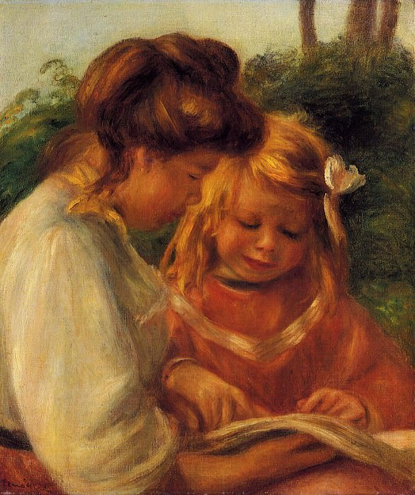 The Alphabet (also known as Jean and Gabrielle) - 1897. Pierre-Auguste Renoir