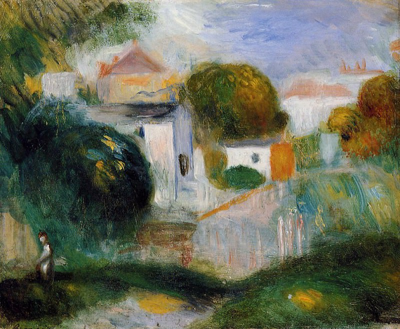 Houses in the Trees. Pierre-Auguste Renoir