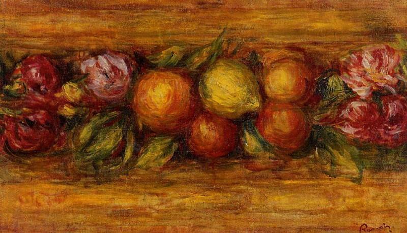 Garland of Fruit and Flowers - 1915. Pierre-Auguste Renoir