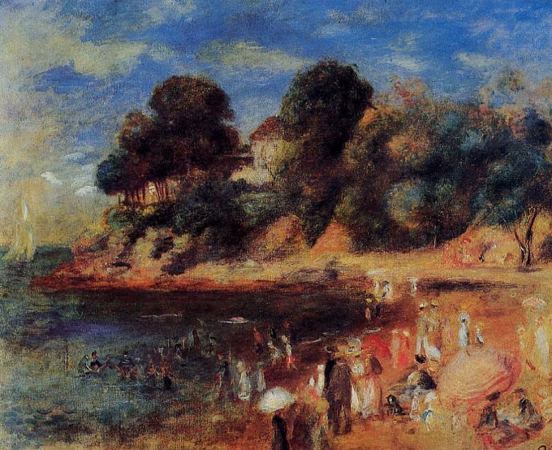 The Beach at Purnic - 1892. Pierre-Auguste Renoir