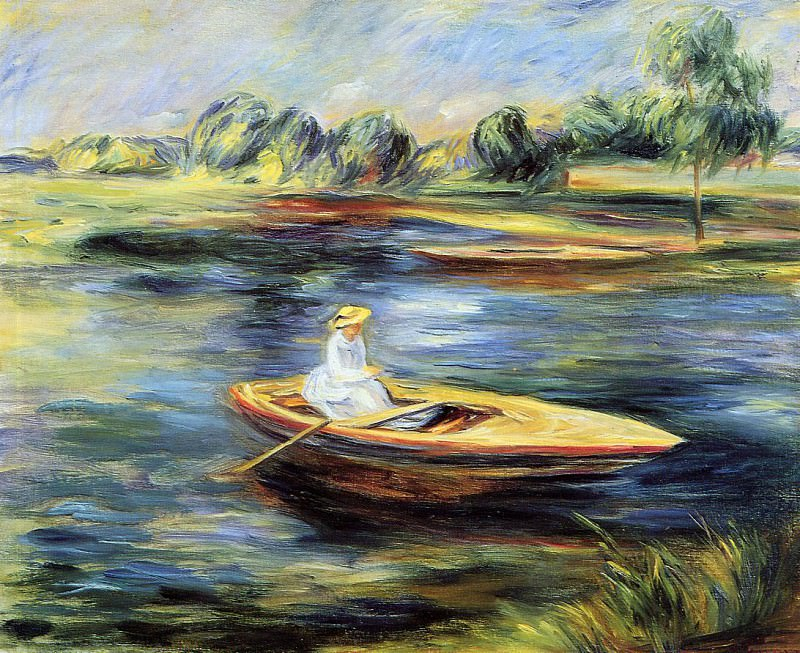 Young Woman Seated in a Rowboat. Пьер Огюст Ренуар