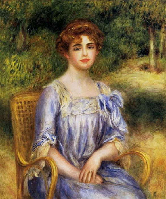 Madame Gaston Bernheim de Villers nee Suzanne Adler - ок 1901. Pierre-Auguste Renoir