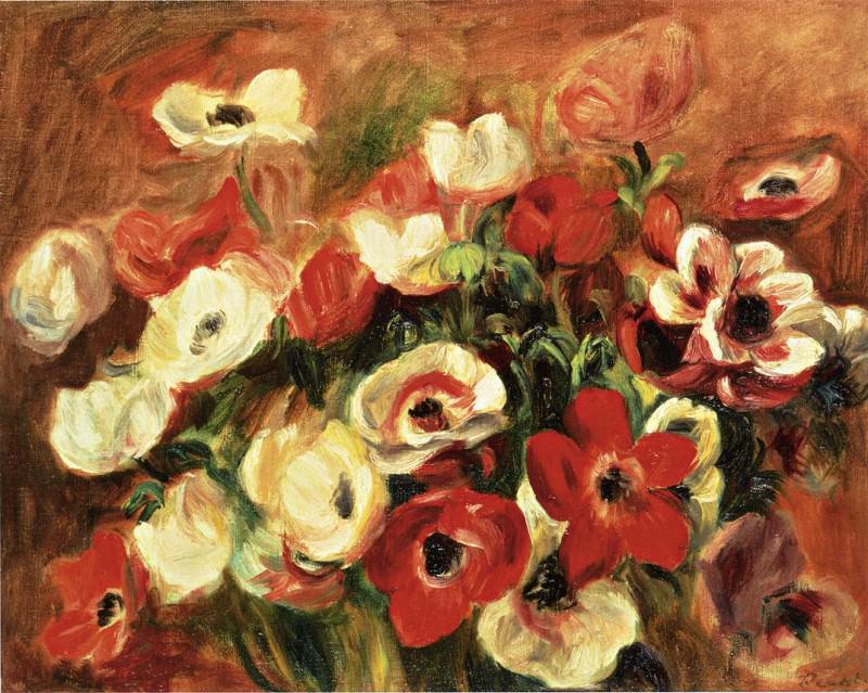 Spray of Anemones. Pierre-Auguste Renoir