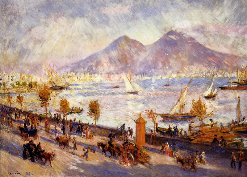 Mount Vesuvius in the Morning - 1881. Пьер Огюст Ренуар