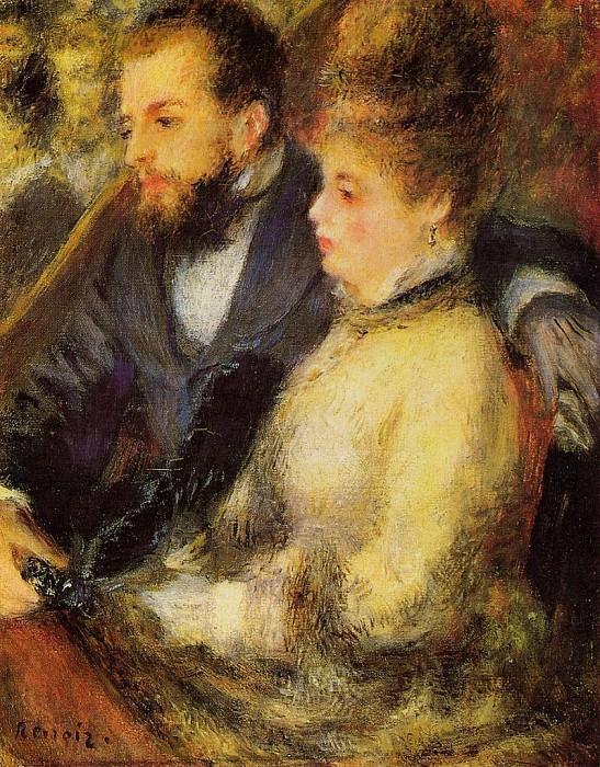 In the Loge - 1874. Pierre-Auguste Renoir