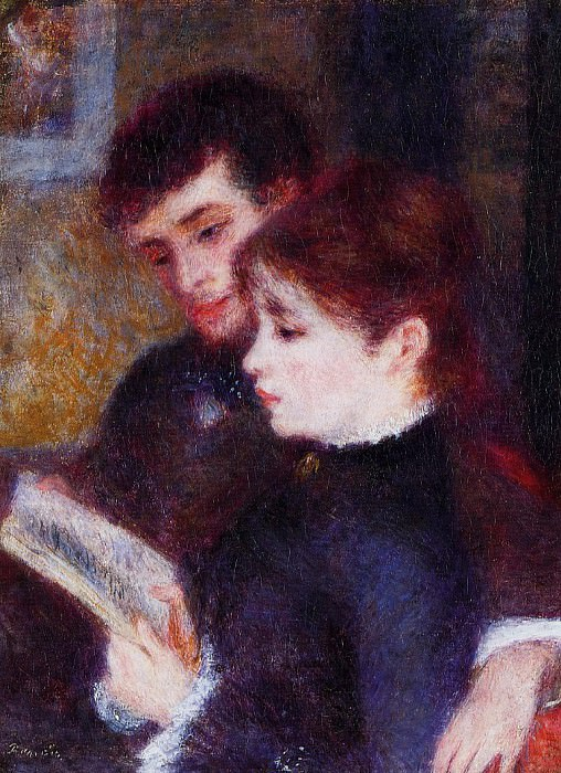 Reading Couple (also known as Edmond Renoir and Marguerite Legrand) - 1877. Pierre-Auguste Renoir