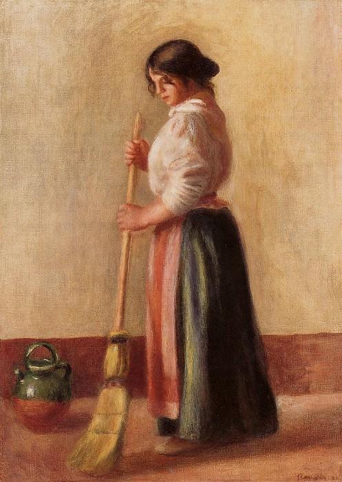 Sweeper - 1889. Pierre-Auguste Renoir
