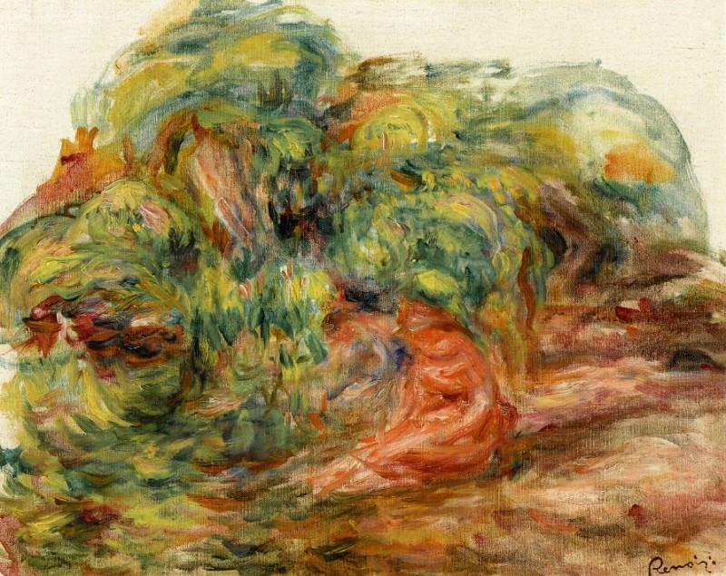 Two Woman in a Garden. Pierre-Auguste Renoir