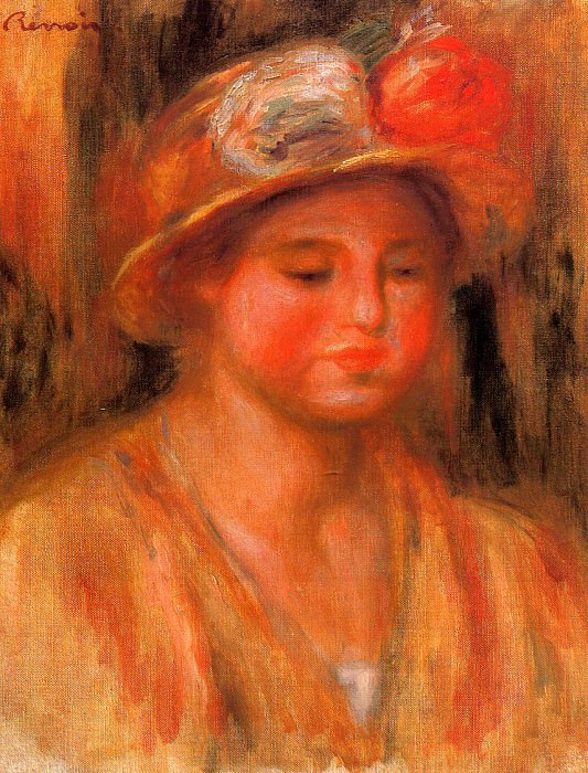 Portrait of a Woman - 1912 - 1915. Pierre-Auguste Renoir