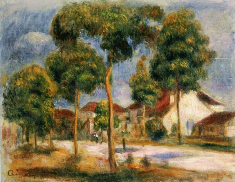A Sunny Street - 1900. Pierre-Auguste Renoir