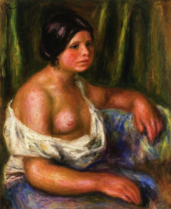 Woman in Blue. Pierre-Auguste Renoir