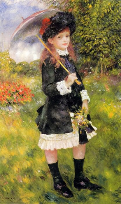 Girl with a Parasol (also known as Aline Nunes) - 1883. Пьер Огюст Ренуар