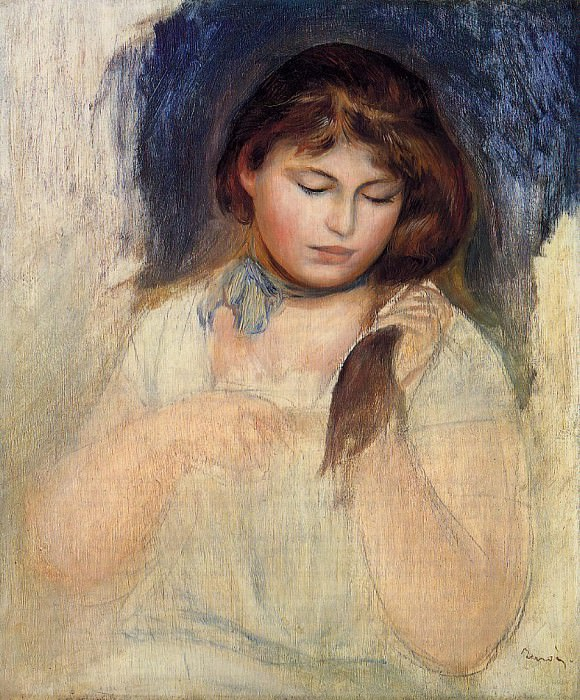 Head of Gabrielle - 1895. Pierre-Auguste Renoir