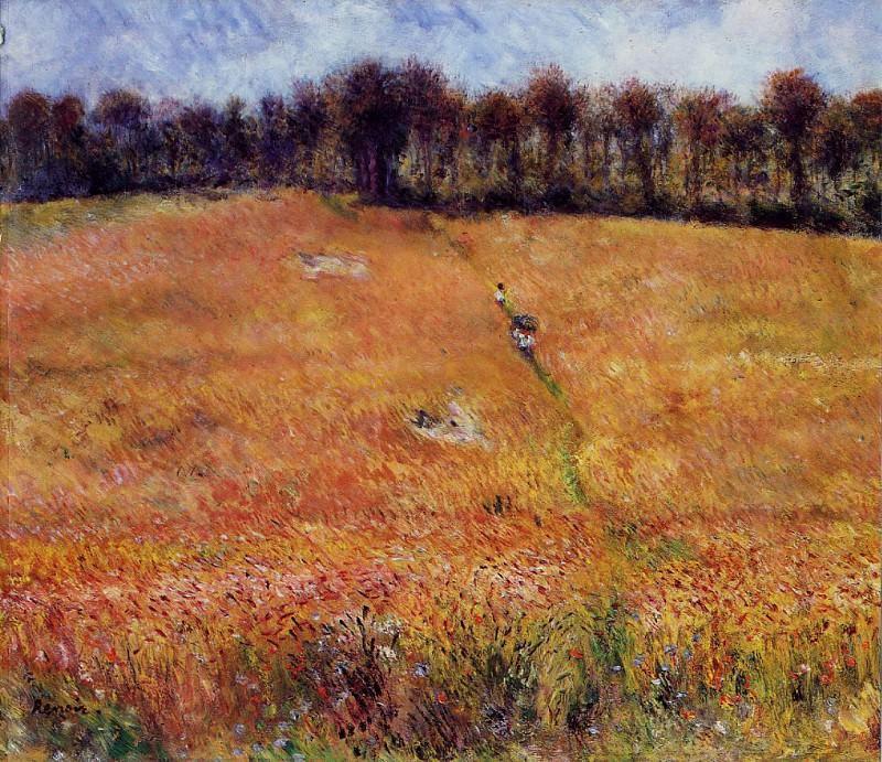 Path through the High Grass - 1876. Pierre-Auguste Renoir