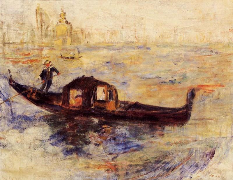 Venetian Gondola - 1881. Pierre-Auguste Renoir