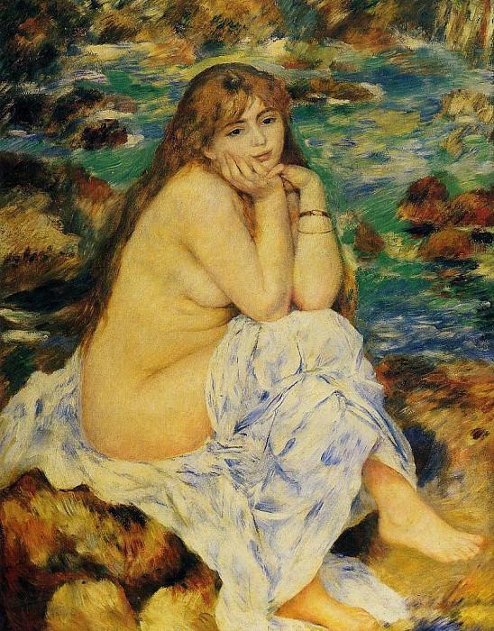 Seated Nude - 1885. Pierre-Auguste Renoir