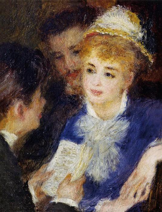 Reading the Part - 1874 - 1876. Pierre-Auguste Renoir