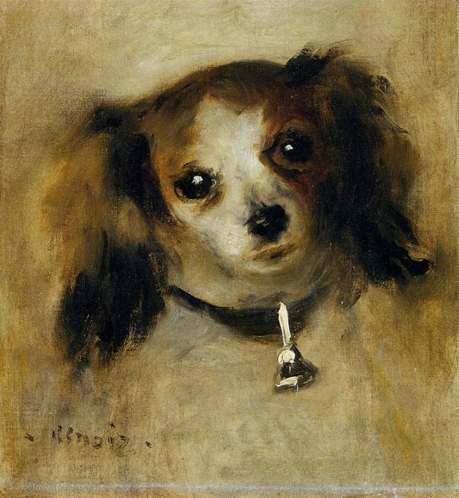 Head of a Dog - 1870. Пьер Огюст Ренуар