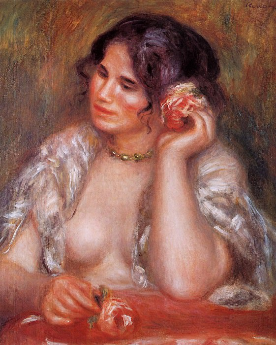 Gabrielle with a Rose - 1911. Pierre-Auguste Renoir