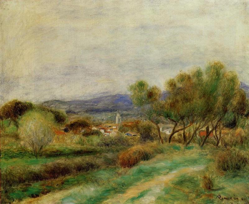 View of La Sayne - 1890. Pierre-Auguste Renoir