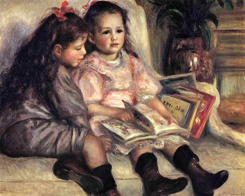 Portraits of Two Children - 1895. Pierre-Auguste Renoir