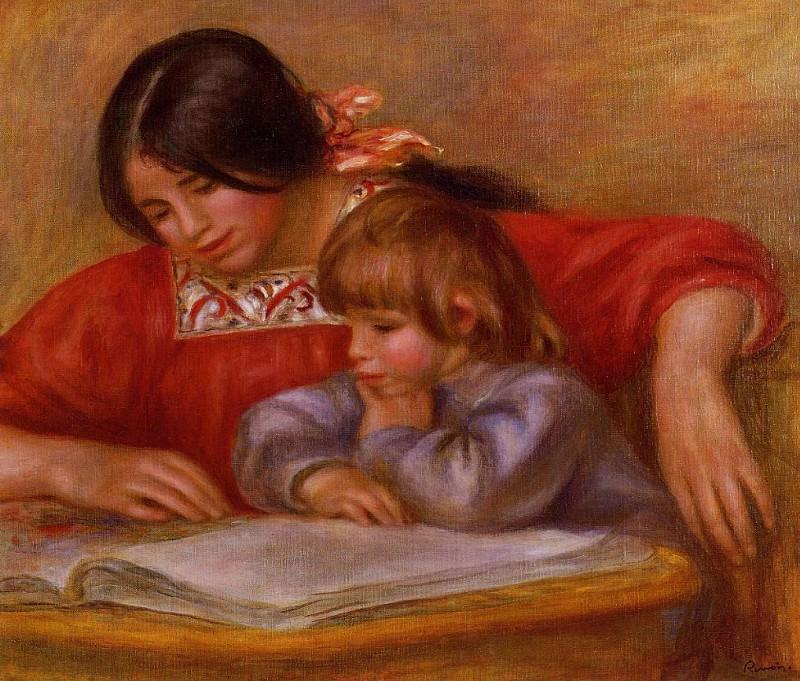Leontine and Coco - 1909. Pierre-Auguste Renoir