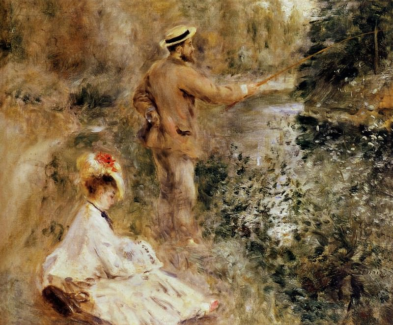 The Fisherman - 1874. Pierre-Auguste Renoir