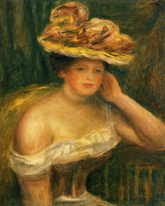 Woman Wearing a Corset. Pierre-Auguste Renoir