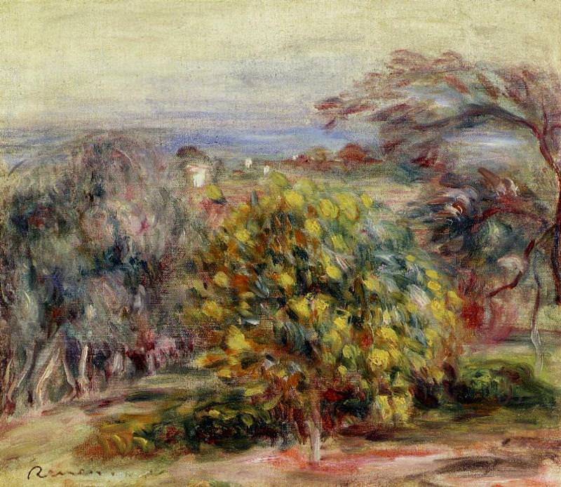 Landscape at Collettes. Pierre-Auguste Renoir