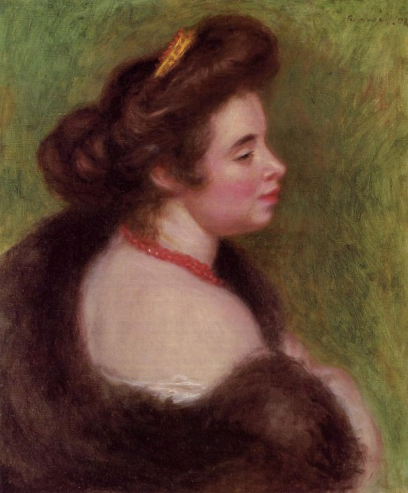 Madame Maurice Denis nee Jeanne Boudot - 1904. Pierre-Auguste Renoir