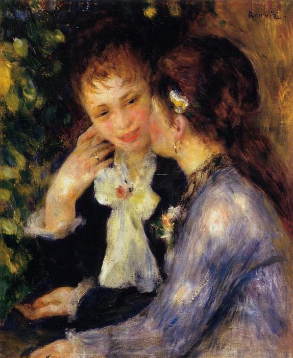 Confidences - 1878. Пьер Огюст Ренуар