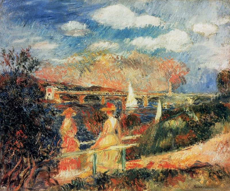 The Banks of the Seine at Argenteuil - 1880. Pierre-Auguste Renoir