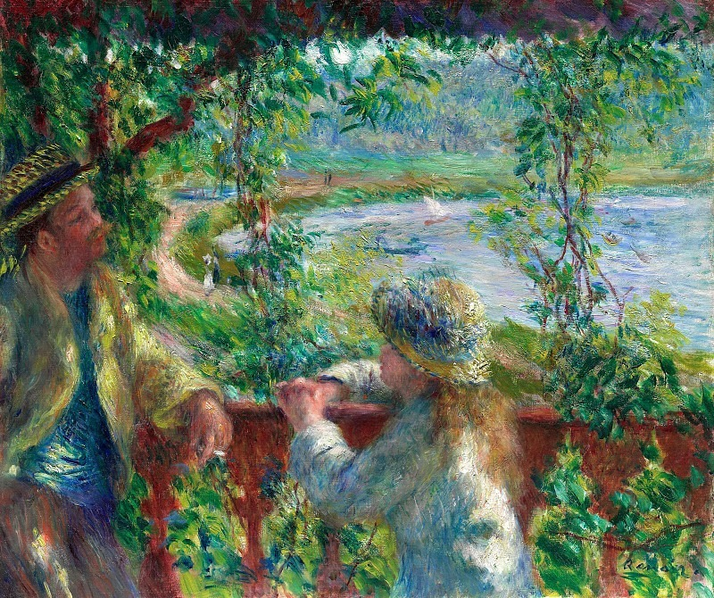 Near the Lake - 1879. Pierre-Auguste Renoir