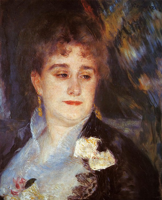 First Portrait of Madame Georges Charpeitier - 1876 - 1877. Pierre-Auguste Renoir