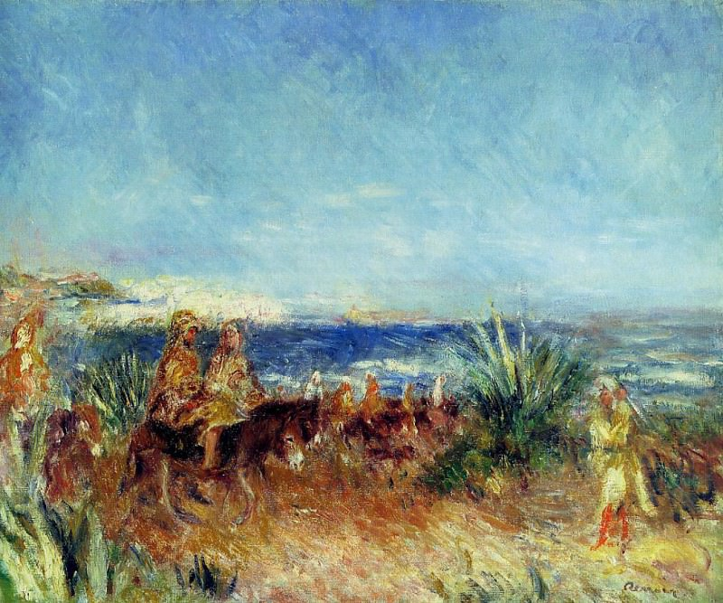 Arabs by the Sea. Pierre-Auguste Renoir
