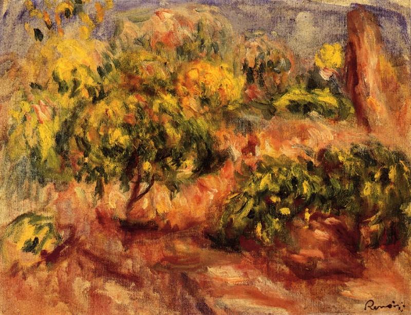 Cagnes Landscape - около 1914-1919. Pierre-Auguste Renoir