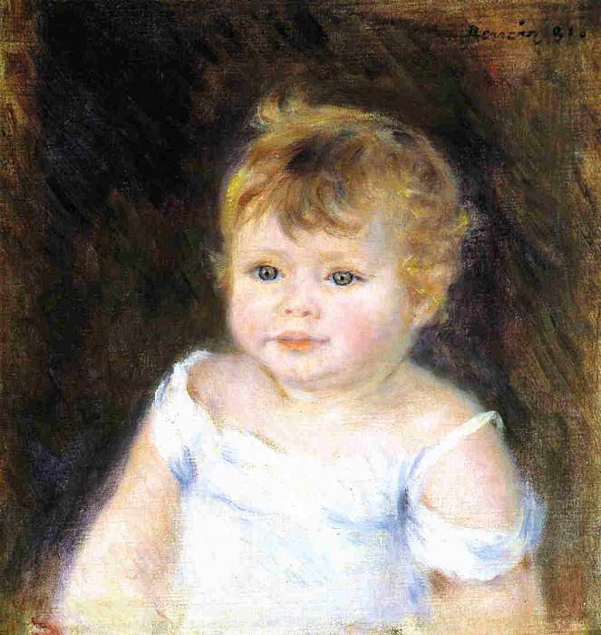 Портрет младенца. Пьер Огюст Ренуар