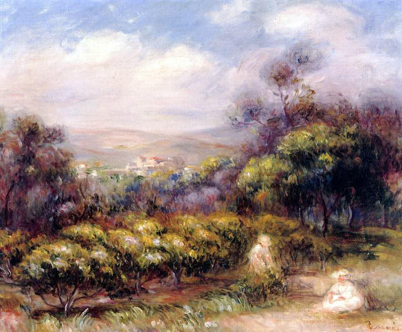 Cagnes Landscape1. Pierre-Auguste Renoir