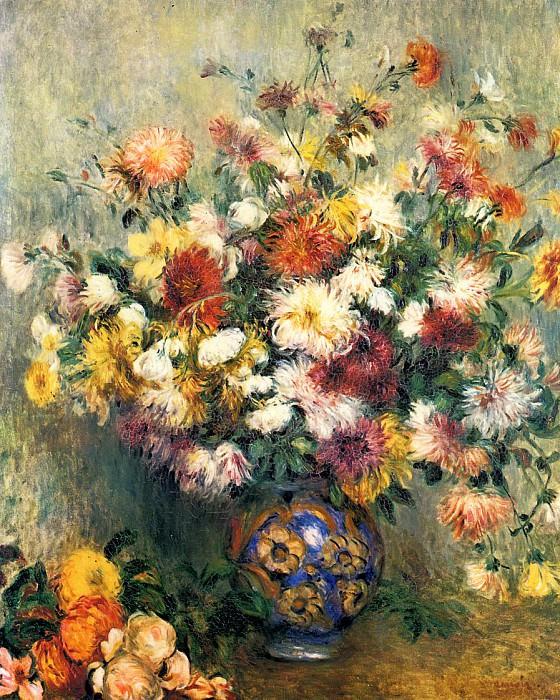 Vase of Chrysanthemums - 1880 - 1882. Пьер Огюст Ренуар