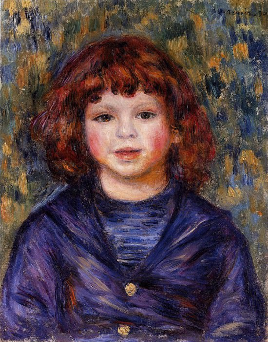 Portrait of Pierre Renoir in a Sailor Suit - 1890. Pierre-Auguste Renoir