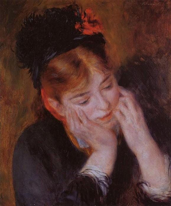Reflection - 1877. Pierre-Auguste Renoir