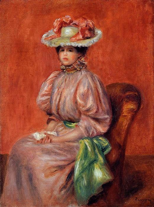 Seated Woman - 1895. Pierre-Auguste Renoir