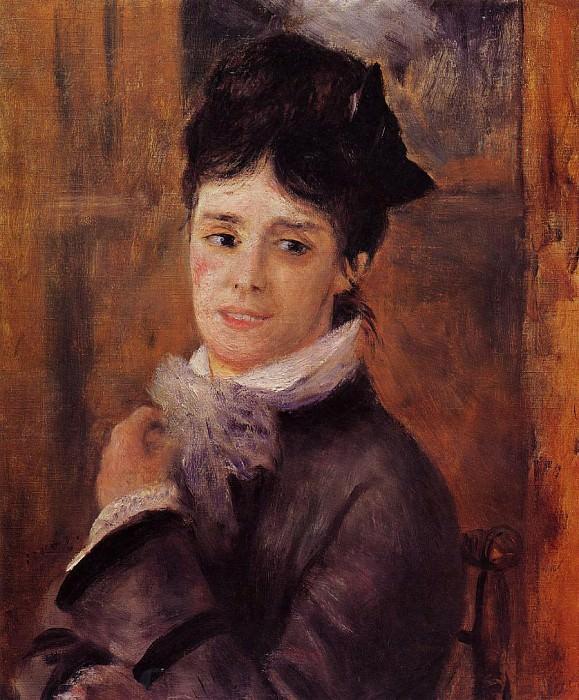 Мадам Клод Моне - 1872. Пьер Огюст Ренуар
