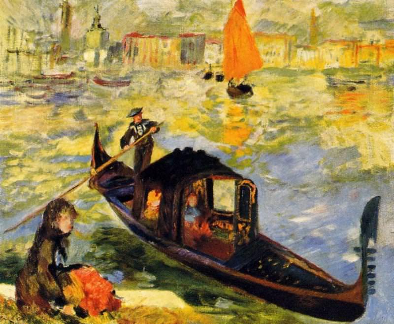 Venetian Gondola - 1881. Пьер Огюст Ренуар