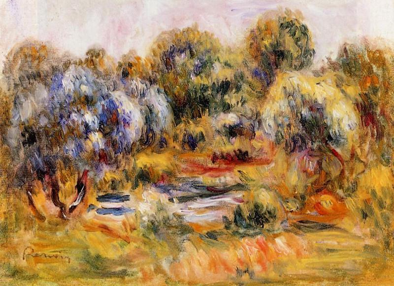 Cagnes Landscape. Pierre-Auguste Renoir