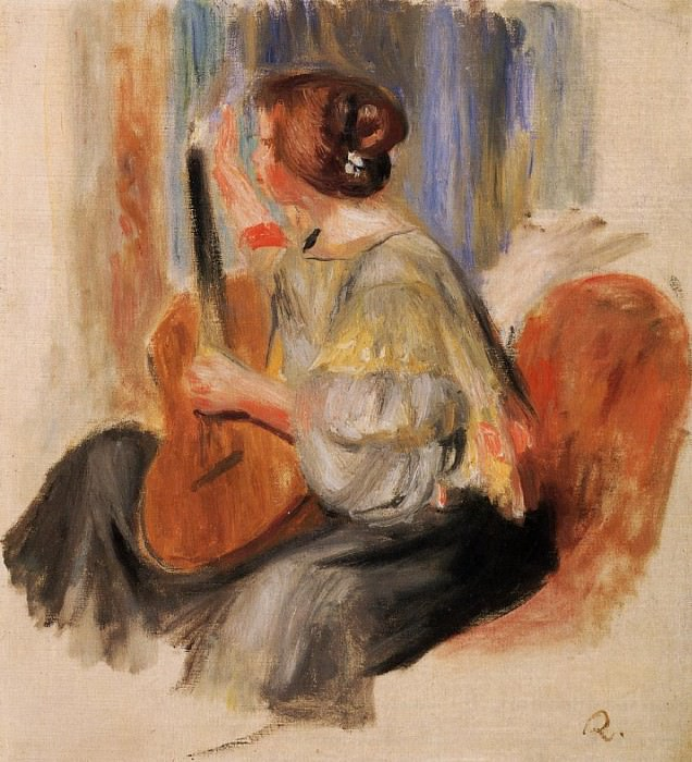 Woman with Guitar. Pierre-Auguste Renoir